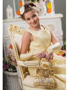 Сумочка золотая Розочка