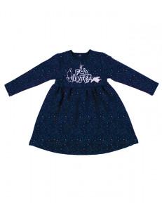 """Платье для девочек синего цвета """"созвездия"""""""