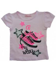Футболка розовая для девочек кеды